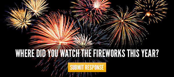 Where did you watch the fireworks this year?